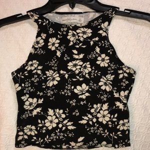 Abercrombie and Fitch Floral Crop Top